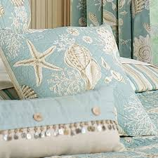 Seashell Queen Comforter Set Natural Shells Coastal Quilt Bedding Quilt Bedding Shell And