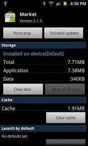 android cache difference of clear cache and clear data in android