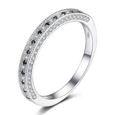 women s wedding bands cut black 925 sterling silver women s wedding bands