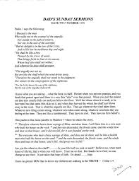 sermons on thanksgiving to god dad u0027s sunday sermon