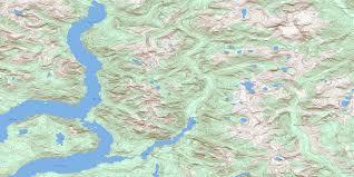 Desolation Sound Map Powell Lake Bc Free Topo Map Online 092k01 At 1 50 000