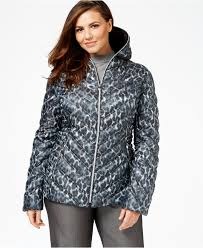 Plus Size Down Coats Laundry By Shelli Segal Plus Size Printed Packable Puffer Coat In
