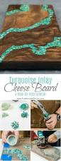 How To Make Inlay Jewelry - turquoise inlay cheese board diy kitchen decor kitchen decor