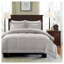 Washing Down Alternative Comforter Belford Microcell Down Alternative Comforter Set Gray Target