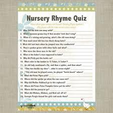 nursery rhyme baby shower nursery rhyme baby shower quiz best idea garden