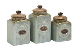 ceramic canisters for the kitchen amazon com imax 73327 3 ceramic canisters home kitchen