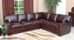 Costco Leather Sectional Sofa Adler Costco