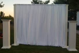 White Drape Events With Design Inventory Pipe And Drape Backdrops White Drape