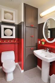 Bookshelves San Francisco by Bedroom Wall Shelves Bathroom Modern With Red Brown White Bathroom