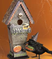Diy Halloween Ornaments Cool 4 Pc Halloween Birdhouses Ghosts Pumpkins Tombstones Orange