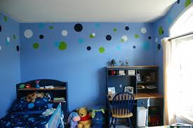 Blue Wall Painting Ideas For Kids Bedrooms With Small Study Table - Creative painting ideas for kids bedrooms