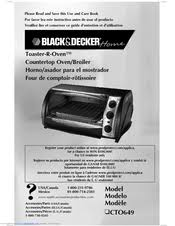Black And Decker Toaster Oven Black U0026 Decker Toaster R Oven Cto649 Manuals