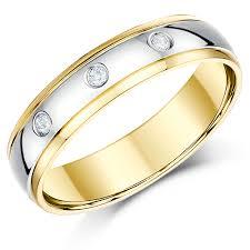 s plain wedding bands wedding rings mens two tone wedding bands plain two tone wedding