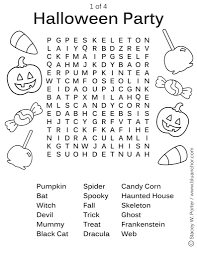 of stacey w porter halloween party word find activity sheet 1 of 4