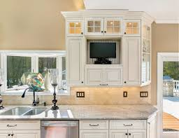 Tv In Kitchen Cabinet New Classic Kitchen Freehold New Jersey By Design Line Kitchens