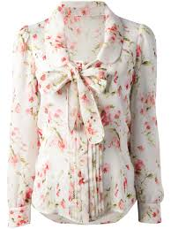 floral blouse lyst valentino floral print blouse
