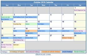 october 2016 calendar with holidays usa canada nz singapore malaysia