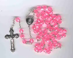 pink rosary rosaries by terry 5 decade rosaries rosaries