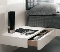 bedroom fascinating bedside table ideas with floating design and