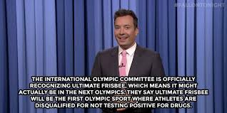 Ultimate Frisbee Memes - joke of the day jimmy fallon on olympic ultimate livewire ultiworld
