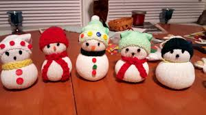 making snowmen out of socks and rice youtube