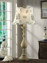 tall beach cottage lamp with shell shade everything u0027s just