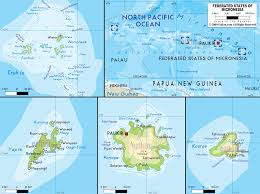 Map Of Oceania Physical Map Of Micronesia Ezilon Maps