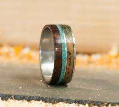 custom wedding bands element in ironwood patina copper wood wedding ring w