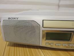 white sony icf cd513 under cabinet cd am fm 15 preset tuning clock