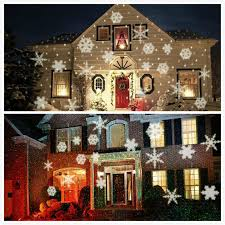 light projector for house xmas lights white snow sparkling landscape projector outdoor garden