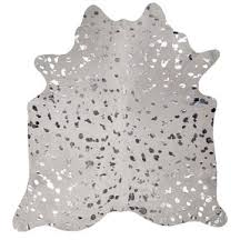 Silver Cowhide Rug Silver Metallic Cowhide Rug Wayfair