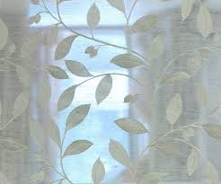 Sheer Off White Curtains Off White Leaves Embroidery Sheer Poly Linen 140 Cm Width Curtain