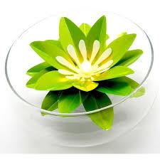 La bougie à led fleur de lotus vert anis, pour créer une ambiance ... - pdtimg_2218575b