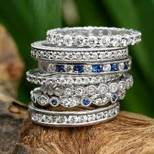 Stacked Wedding Rings by The Trendiest Wedding Ring Trend The Latest Ring Trends For