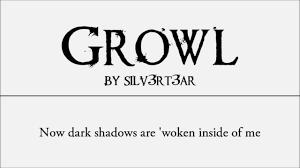 exo growl lyrics acoustic english cover exo growl elise silv3rt3ar youtube