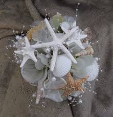 wedding bouquets with seashells sea shell wedding bouquet blue bridal bouquet