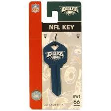 philadelphia eagles home decor shop fanatix 66 nfl philadelphia eagles key blank at lowes com