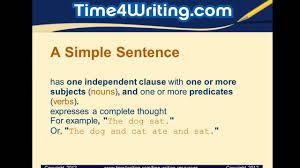 4 Types Of Sentences Worksheet Simple Compound U0026 Complex Sentences Quiz Youtube