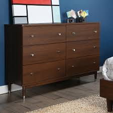dresser and tv stand combo south shore olly mid century modern 6 drawer double dresser brown