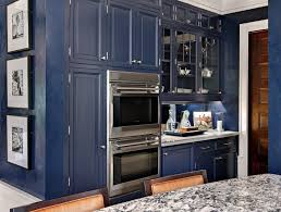 what color appliances with blue cabinets kitchen cabinets navy blue wooden panels glass panels