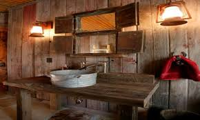 Rustic Farmhouse Bathroom - restroom sink cabinets rustic bathroom ideas rustic farmhouse
