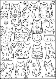 ажурные трафареты котов котеко Coloring Pages Pinterest Cat Coloring Pages