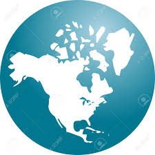 Canada Us Map by Map Of The North American Continent Usa Canada Mexico Stock Photo