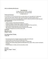 Examples Of Banking Resumes by Bank Teller Resume Examples Cv01 Billybullock Us