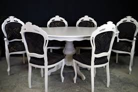 Style Dining Chairs Style Dining Table With 6 Louis Chairs Painted Vintage