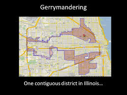 chicago gerrymandering map gerrymandering one contiguous district in illinois ppt