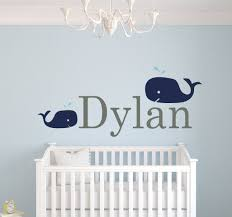 amazon com custom whale name wall decals for boys baby room amazon com custom whale name wall decals for boys baby room decor nursery wall decals boys room decor nursery nautical wall decals 44wx20h baby