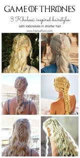 daenerys style hair game of thrones hair tutorial with extensions hairsaffairs