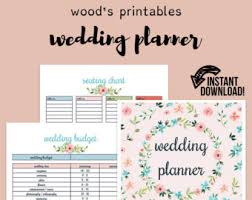 printable wedding planner wedding planner kit pdf digital printables