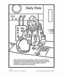 sally ride coloring page worksheets seasons worksheets and